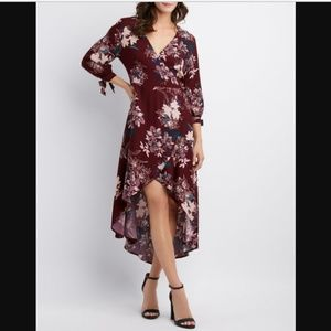 CR Floral Maxi Wrap Dress